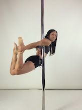 Photo: Cynthia Lau - Chicken Wing No handed Box leg extension - Vertical Pole Gymnastics @ Pole Fitness Studios