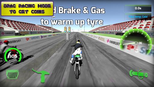 Motorbike real 3D drag racing Wheelie Challenge 3D  screenshots 16