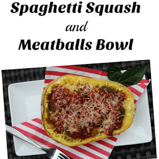 Spaghetti Squash and Meatballs Bowls #SundaySupper