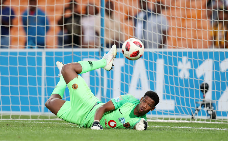 Virgil Vries of Kaizer Chiefs saves a penalty during the 2018 Telkom Knockout Cup match between Kaizer Chiefs and Black Leopards at the FNB Stadium, Johannesburg on 21 October 2018.