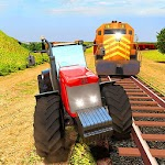 Train Vs Tractor Racing 3D Icon
