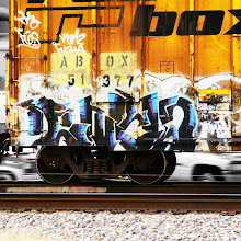 Photo: Graffiti on a boxcar