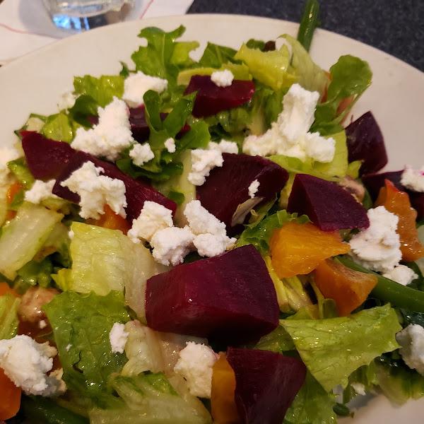 Oven roasted beet salad