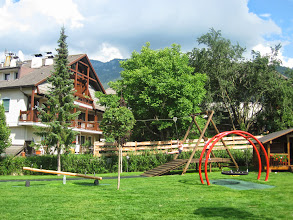 Photo: The playground at our apartment hotel in Castelrotto