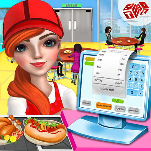 High School Cafe Cashier Girl - Kids Games