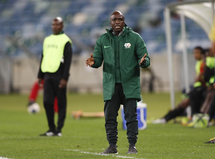 South Africa coach David Morala Notoane during the COSAFA Cup, Plate final match between South Africa and Malawi at Moses Mabhida Stadium on June 07, 2019 in Durban, South Africa.