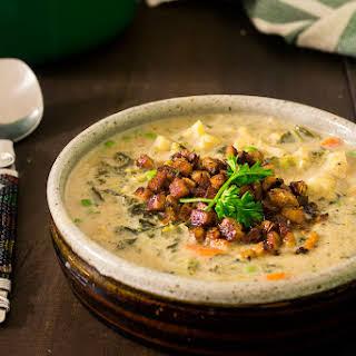 Creamy Vegan Vegetable Soup.