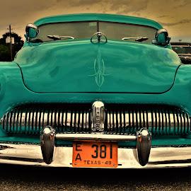 Aqua Dream by Benito Flores Jr - Transportation Automobiles ( aqua, chrome, car, austin, travis expo, merc, texas, car show, lone star round up, 50's )