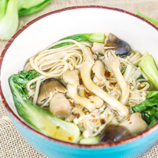 Lemongrass Ginger Mushroom Soup with Soba Noodles Recipe