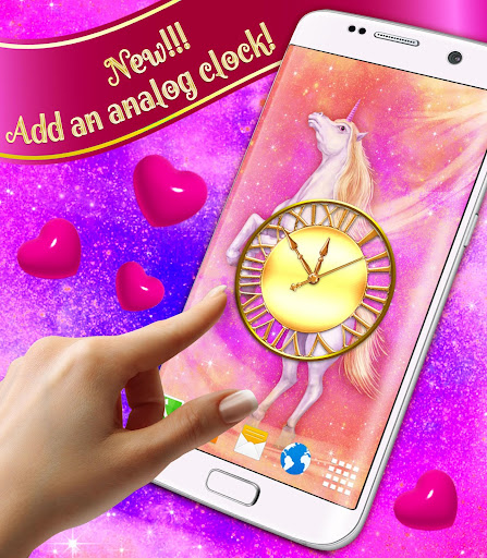 Screenshot for Majestic Unicorn Live Wallpaper in United States Play Store