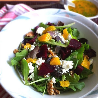 Orange Infused Salad with Beets and Goat Cheese