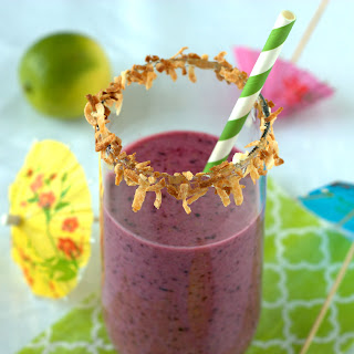 Wild Blueberry Tropical Smoothie.