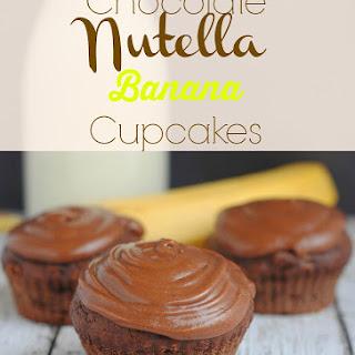 Chocolate Nutella Banana Cupcakes