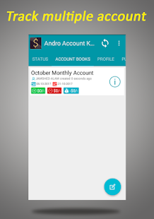 Andro Account Keeper - náhled