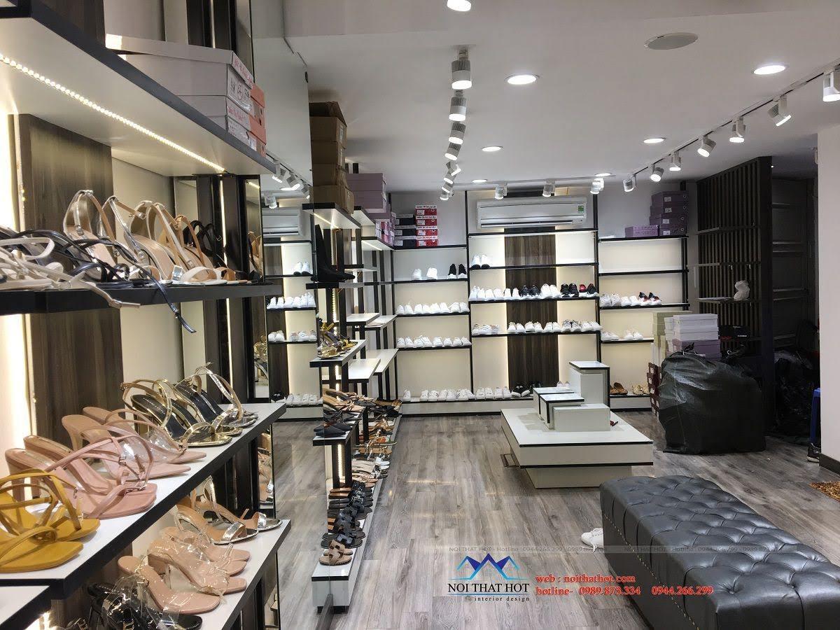 thiết kế thi công shop giày dép thời trang ha huyen 4