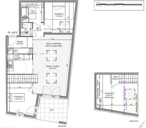 Vente appartement 4 pièces 77,46 m2
