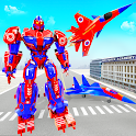 Air Force Real Robot Transform: Fighter Jet Plane icon