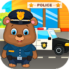 Kids policeman icon