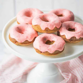 Baked Strawberry Donuts.