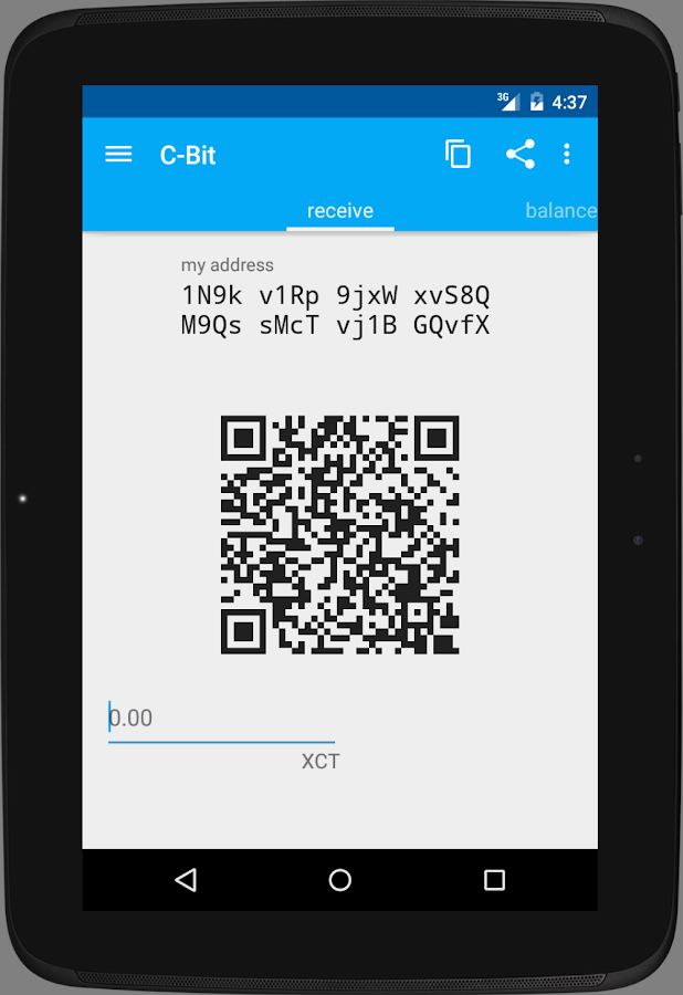 C-bit Wallet (XCT)- screenshot