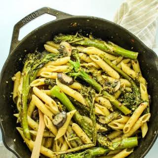 Broccolini Pasta with Creamy White Wine Sauce.