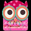 J'adore le thème du clavier rose mignon hibou
