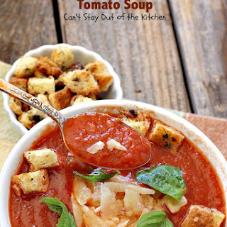 Easy Crockpot Tomato Soup.