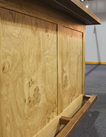 a close up of the wood on the Prestige Bar