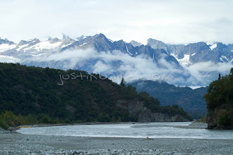 """Photo: Scenic image of the Tashenshini River. The """"Tat"""" flows out of Yukon, CA, through British Columbia and empties into Glacier Bay National Park in Alaska, US."""