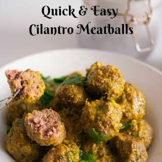 Cilantro Meatballs Recipes.
