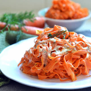 Tahini Dill Carrot Noodles.