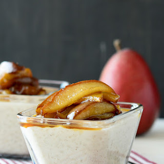 Roasted Pear Rice Pudding