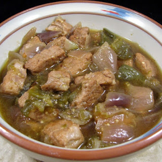 "Green Pork Chili ""Chili Verde""."