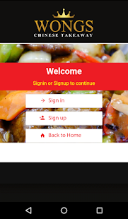 Wongs Chinese Takeaway- screenshot thumbnail