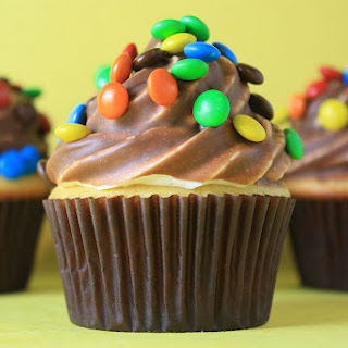 Chocolate Dipped Candy Cupcakes