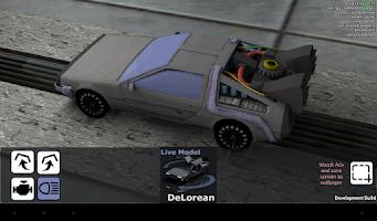 Screenshot of Live Model DeLorean
