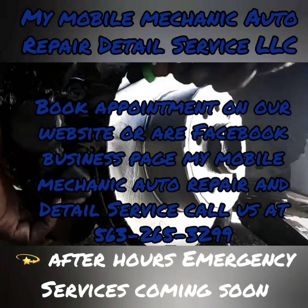 My mobile mechanic auto repair and detail service - Repair