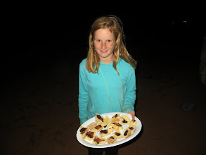Photo: Fish's yummy damper presented by Maddy