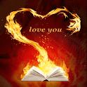 Firey Book Heart LWP icon