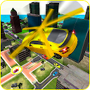 Flying Helicopter Car Taxi Game 2019 APK