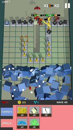 Cube TD: Turret Defense Free Maze Builder  captures d'écran 2