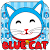 Blue Cute Kitty Keyboard Theme file APK Free for PC, smart TV Download