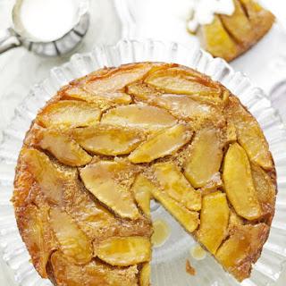Caramelised Apple Cake With Cointreau Custard.