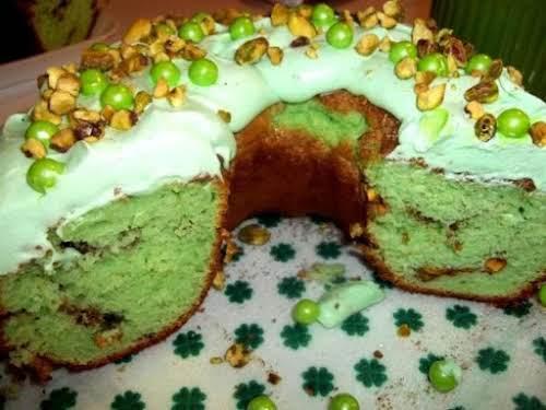 """Luck Of The Irish Sour Cream Pistachio Cake """"I made this last..."""
