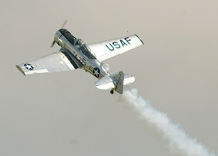 Photo: Bill Leff flying the T-6.