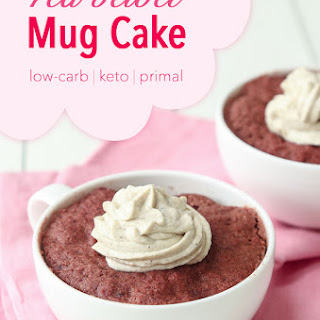Low-Carb Red Velvet Mug Cake