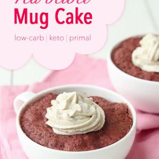 Low-Carb Red Velvet Mug Cake.