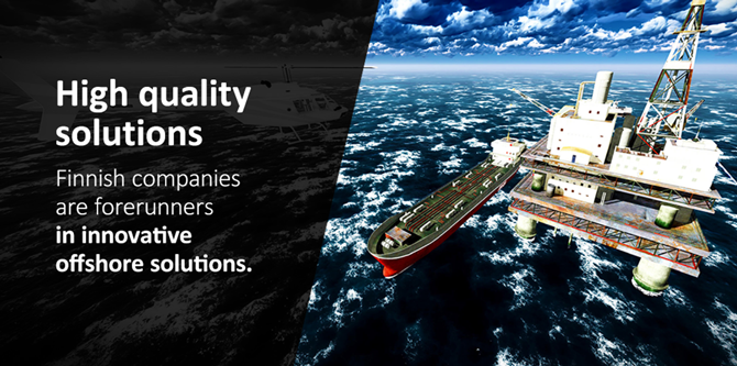 Finnish companies are forerunners in innovative offshore solutions.