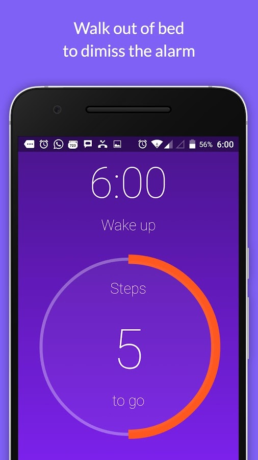 Walk Me Up! Alarm Clock- screenshot