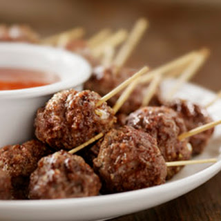 Roasted Meatballs with Sun-Dried Tomato & Basil
